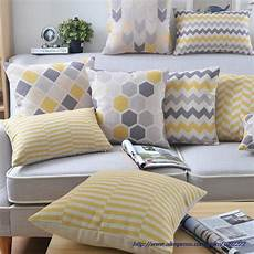 yellow pillows covers nordic style cushion cover home