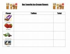 Food Tally Chart Tally Charts Fave Ice Cream Sports Blank Teaching