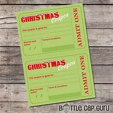 Diy Voucher Template Printable Christmas Coupons Diy Holiday Vouchers Template