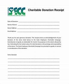 charitable donation receipt template word 5 charitable donation receipt templates formats