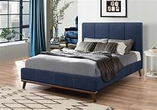 6002626 blue woven fabric upholstery bed frame
