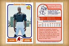 Baseball Card Templates Baseball Card Template