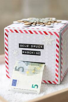 diy geld druck maschine geld geschenk f 252 r weihnachten