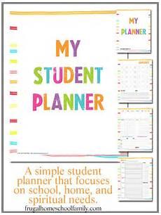 Free Printable School Planner For All Seasons Homeschool Student Planner
