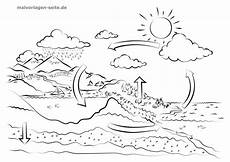 template water cycle for children to color