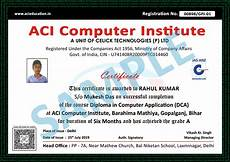 Sample Computer Certificate Certificate Sample Aarav Computer Institute