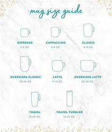 Coffee Cup Sizes Chart Coffee Mug Sizes Guide To Finding The Perfect Cup