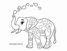 Malvorlagen Elefant Pdf Malvorlage Elefant Tiere Kostenlose Ausmalbilder