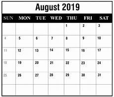 Printable Calendar August Free August 2019 Printable Calendar Templates Pdf Excel