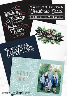 Card Templetes Make Your Own Photo Christmas Cards For Free Somewhat