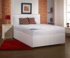 5ft king size divan bed base only in white damask fabric