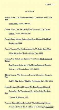 Work Cited Examples Bibliography For The Essay