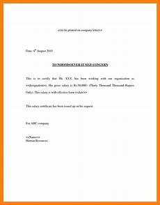Letter Format For Word 8 Salary Letter Format Word Technician Salary Slip