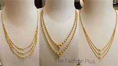 Gold Chain Designs For Ladies Gold Chain Bead Mala Designs Gold Bead Mala Necklace