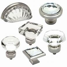 cosmas clear satin nickel glass cabinet knobs cup pulls
