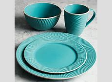 Gibson Elite Lilith 16 Piece Dinnerware Set with Embossed