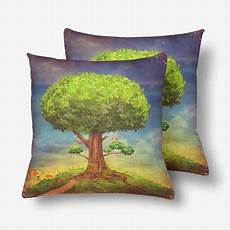 gckg big tree summer throw pillow covers 18x18 inches set