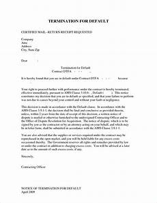 Notice Of Termination Of Contract Notice Of Contract Termination Letter Template Samples