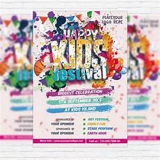 Kids Flyers Kids Festival Premium Flyer Template Facebook Cover