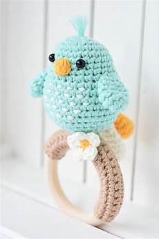 amigurumi bird rattle for babies crochet pattern lilleliis