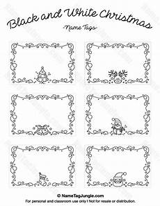 Christmas Labels Black And White Free Printable Black And White Christmas Name Tags The