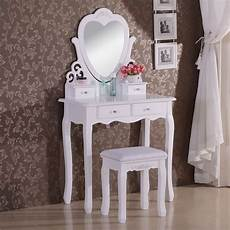 woltu dressing table wood dressing table with chair and