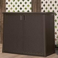 suncast 97 gallon plastic deck box reviews wayfair