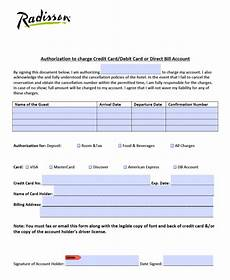 Hotel Credit Card Authorization Form Free Radisson Hotel Credit Card Authorization Form Pdf
