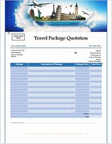 Free Travel Samples 16 Free Travel Service Quotation Templates Ms Office