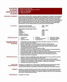Sample Curriculum Vitae For Accountants Accounting Curriculum Vitae Templates 7 Free Word Pdf