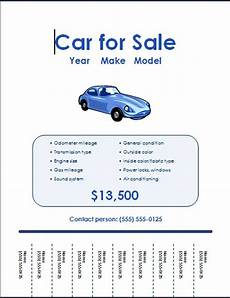 For Sale Templates 5 Free Car For Sale Flyer Templates Excel Pdf Formats