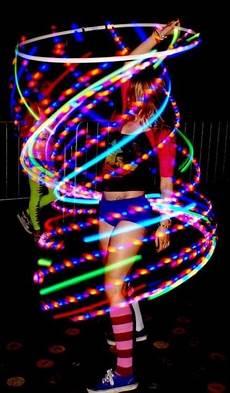 Hula Hoop Girl Lights Hooping Awwww Shooo Hooping Hula Hoop Led Hoops Hula