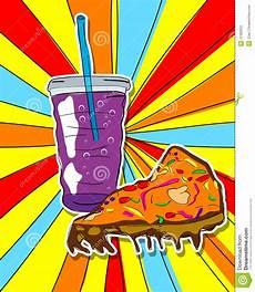 Pop Art Food Pop Art Junk Food Stock Vector Illustration Of Soda