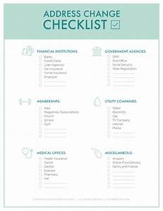 Free Printable Moving Checklist The Ultimate Change Of Address Checklist Printable