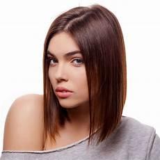 frisuren braune glatte haare glatter brauner a line bob hinten kurz vorne lang