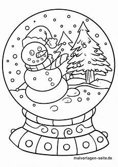Malvorlagen Winter Weihnachten Japan Malvorlage Schneekugel Winter Ausmalbilder Kostenlos