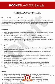Delivery Terms And Conditions Template Terms And Conditions For The Supply Of Services To