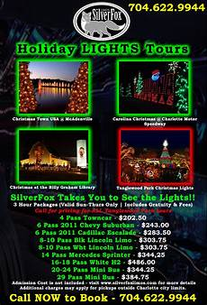 Christmas Lights Flyer Template Holiday Lights Tours Silverfox Limos