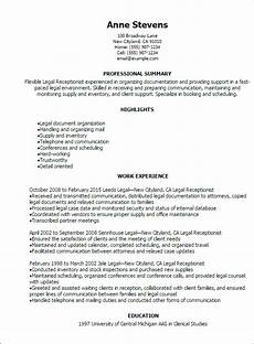 Receptionist Job Resumes 1 Receptionist Resume Templates Try Them Now