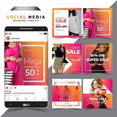 social media design templates social media post design template fashion sale design