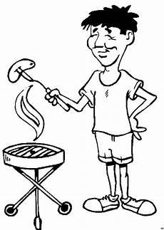 Malvorlagen Kostenlos Grillen Mann Am Grill Mit Wurst Ausmalbild Malvorlage Comics