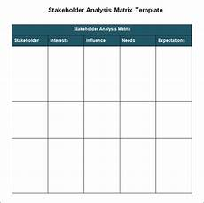 Stakeholder Analysis Template Stakeholder Analysis Template 8 Free Word Excel Pdf