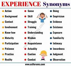 Synonym For Detail Oriented Experience Synonym 40 Useful Synonyms For Experience