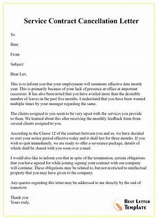 Cancellation Of Contract Cancellation Letter Template Of Contract Format Sample