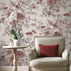 Flower Wallpaper In Bedroom by Vintage Birds And Flowers Wallpaper Floral