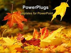 Autumn Powerpoint Background Powerpoint Template A Number Of Leaves In The Fall Season