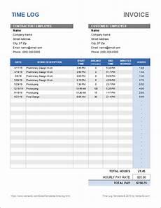 Time Log Excel Time Log Template For Excel