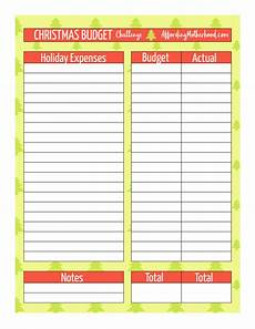 Holiday Budget Template Free Christmas Budget Worksheet Printable Affording