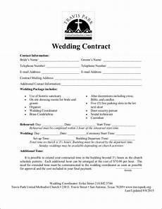 Free Wedding Contract Template Free 14 Wedding Contract Samples In Ms Word Pdf