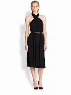 lyst gucci jersey criss cross dress in black